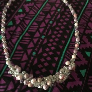 Beaded Choker  Necklace -  Costume Jewelry